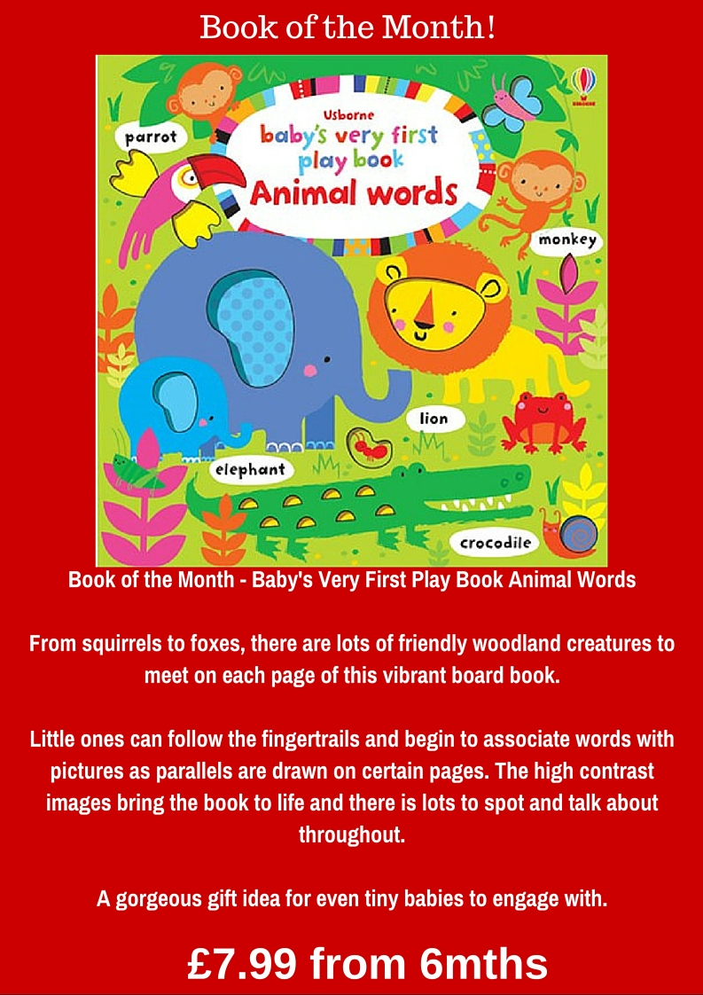 Book of the Month Babys Very First Play Book Animal WordsFrom squirrels to foxes there are lots of